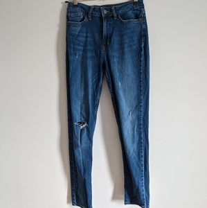 Calvin Klein High Rise Skinny Distressed Jean